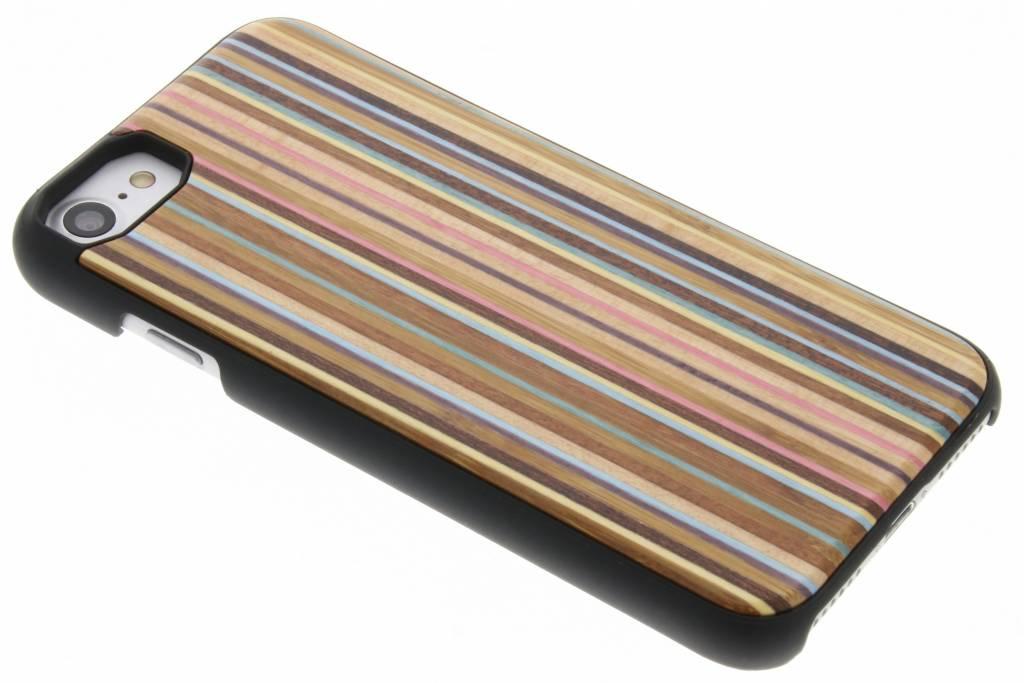 Bruin gestreept houten hardcase hoesje voor de iPhone 7