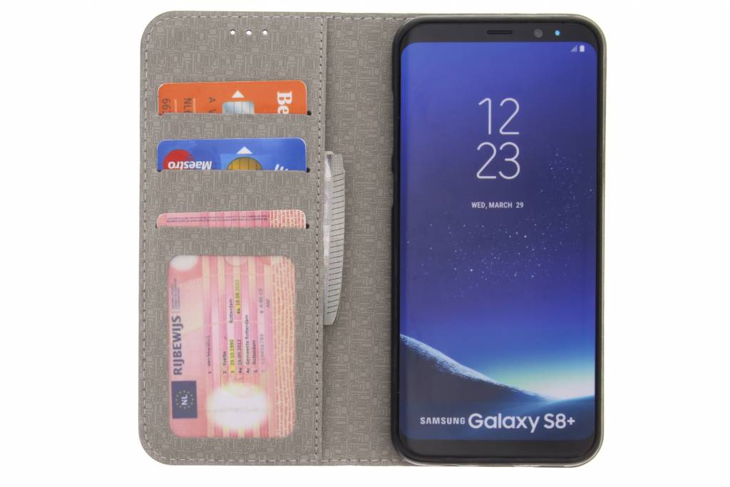 Denim Brun Booktype Tpu Case Pour Samsung Galaxy S8, Plus