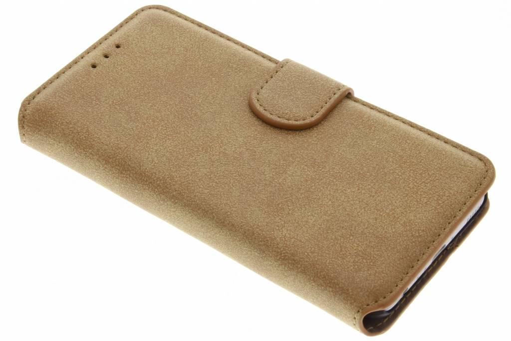 Bruine suède look booktype hoes voor de Huawei P10