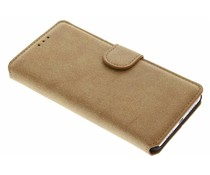 Bruin suède look booktype hoes Huawei P9 Lite