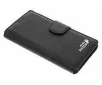 Zwart luxe suède booktype hoes OnePlus 3 / 3T
