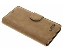 Khaki luxe suède booktype hoes OnePlus 3 / 3T