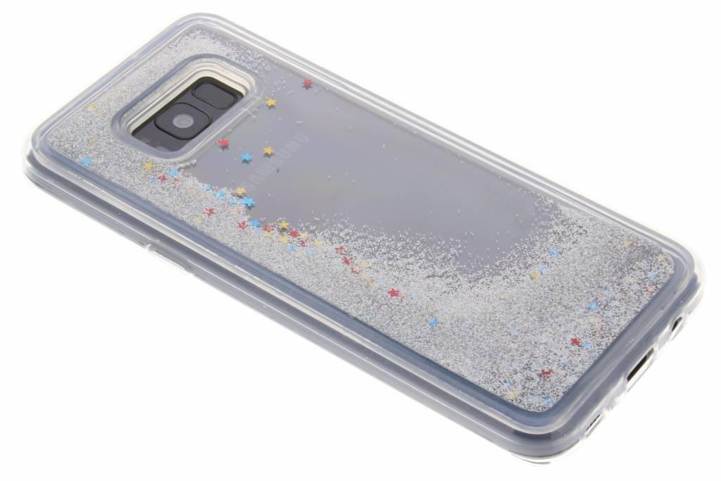 Cas De Paillettes D'argent Liquide Pour Samsung Galaxy S8, Plus