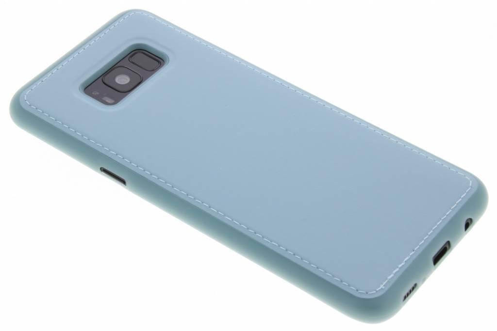 Blauwe lederen TPU case voor de Samsung Galaxy S8 Plus