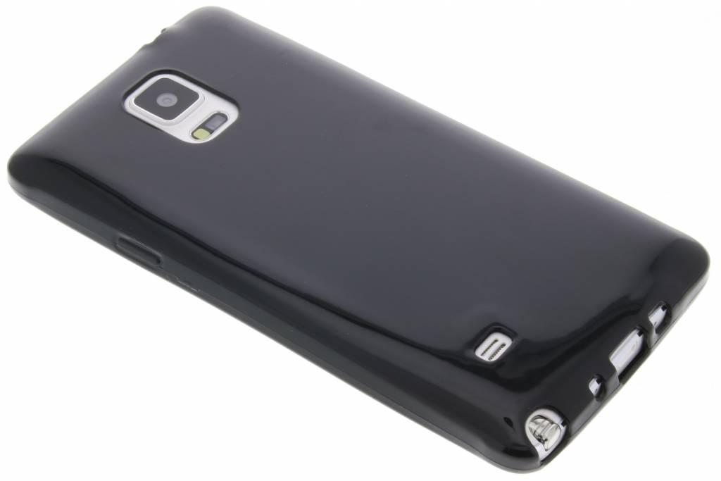 Zwarte transparante gel case voor de Samsung Galaxy Note 4