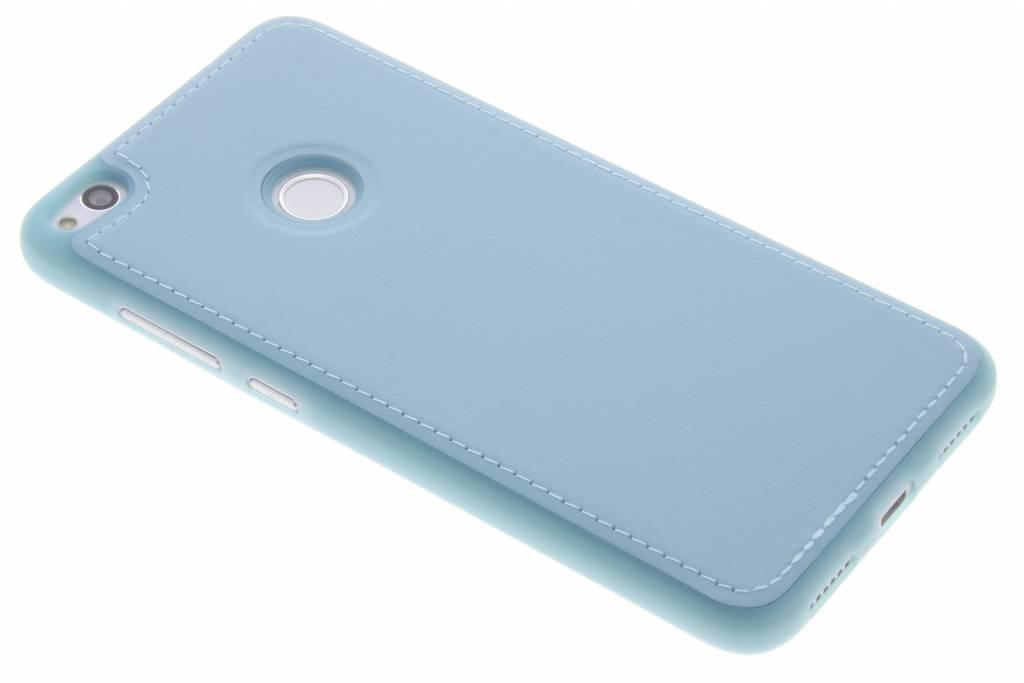 Blauwe Lederen TPU case voor de Huawei P8 Lite (2017) / P9 Lite (2017)