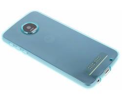 Turquoise transparant gel case Motorola Moto Z Play