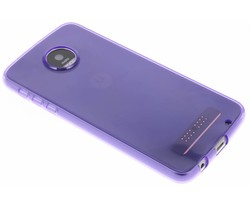 Paars transparant gel case Motorola Moto Z Play