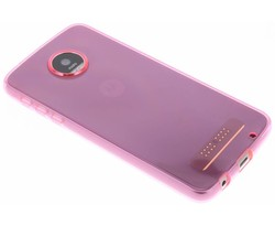 Roze transparant gel case Motorola Moto Z Play