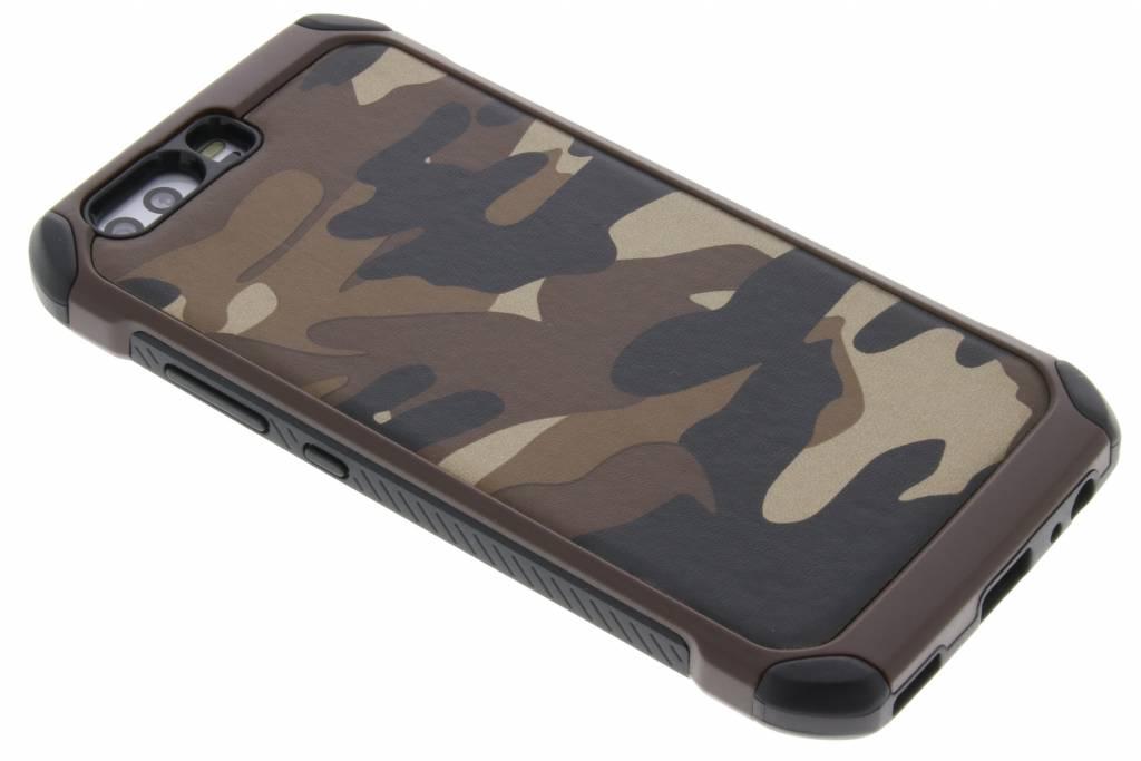 Bruine army defender hardcase hoesje voor de Huawei P10