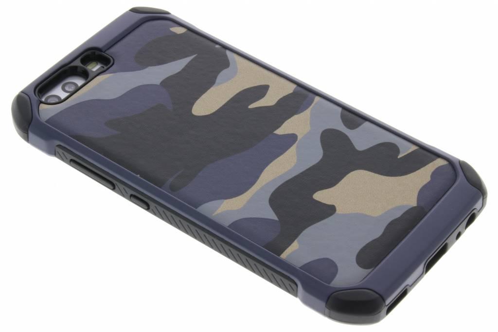 Blauwe army defender hardcase hoesje voor de Huawei P10