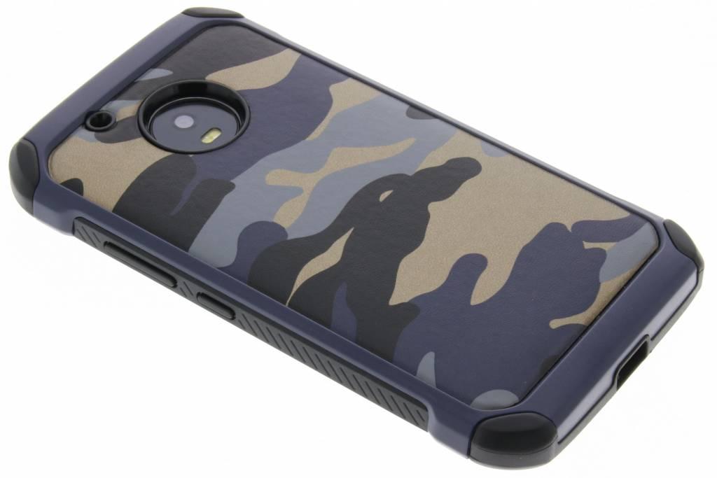 Blauwe army defender hardcase hoesje voor de Motorola Moto G5