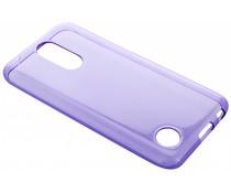 Paars transparant gel case LG K10 (2017)