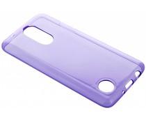 Paars transparant gel case LG K8 (2017)