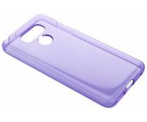 Paars transparant gel case LG G6