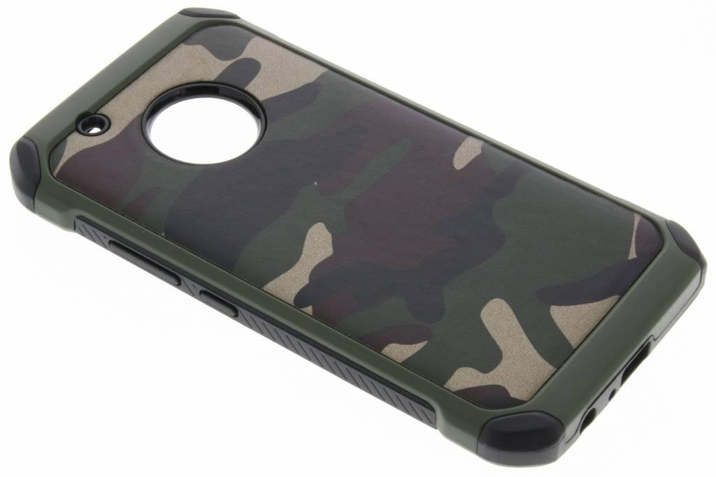 Groen Army defender hardcase hoesje voor de Motorola Moto G5 Plus