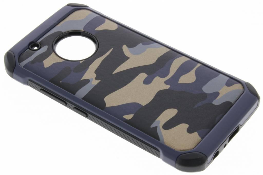 Blauw Army defender hardcase hoesje voor de Motorola Moto G5 Plus
