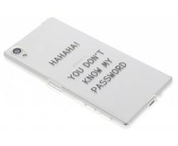 Quote design TPU hoesje Sony Xperia X