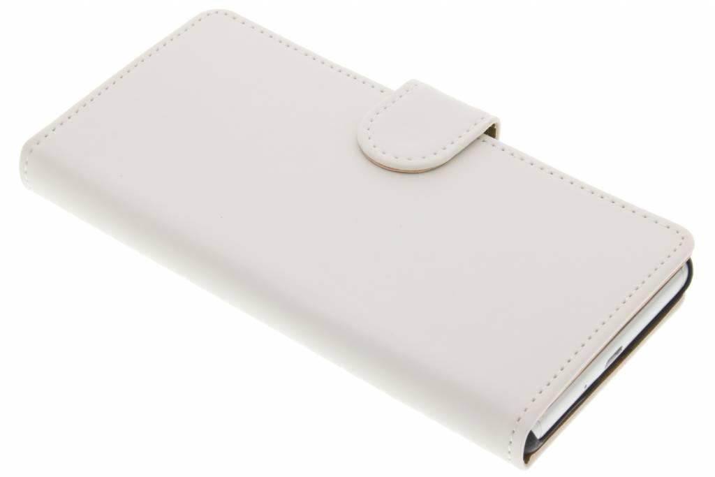 Witte effen booktype hoes voor de Sony Xperia X