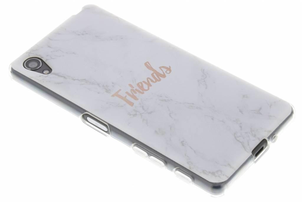 BFF White Marble Love TPU hoesje voor de Sony Xperia X