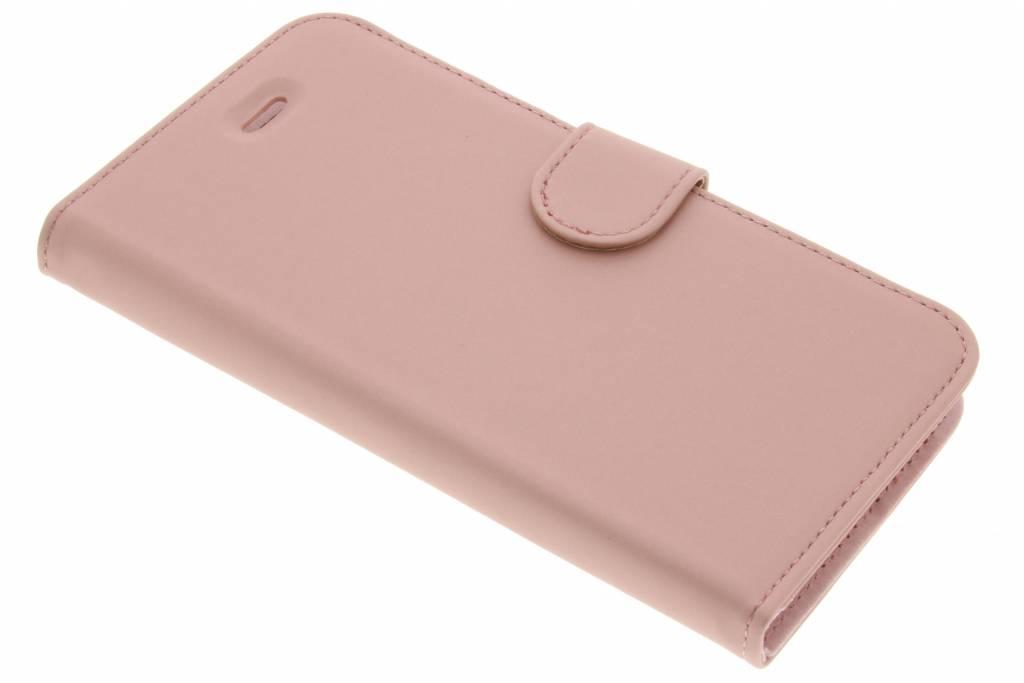 Accezz Rosé Gouden Wallet TPU Booklet voor de Asus Zenfone 3 Max 5.2