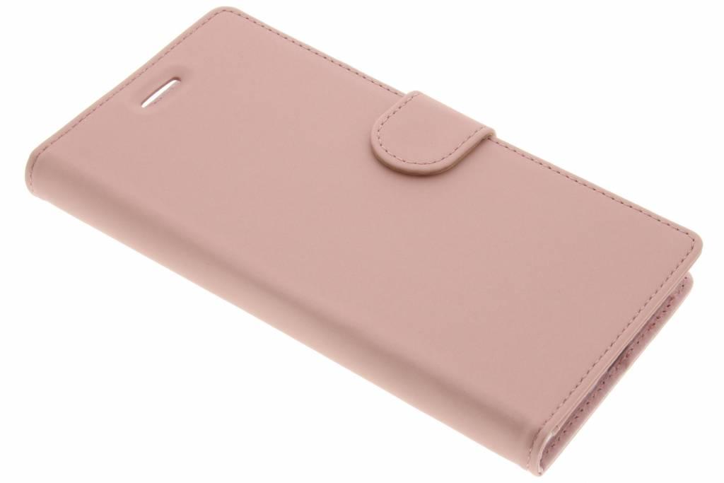 Accezz Rosé Gouden Wallet TPU Booklet voor de Sony Xperia XZ Premium