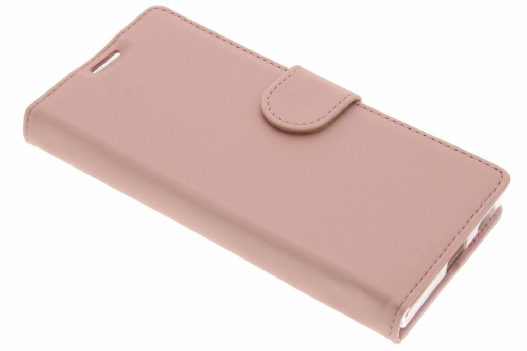 Accezz Rosé Gouden Wallet TPU Booklet voor de Sony Xperia XA1