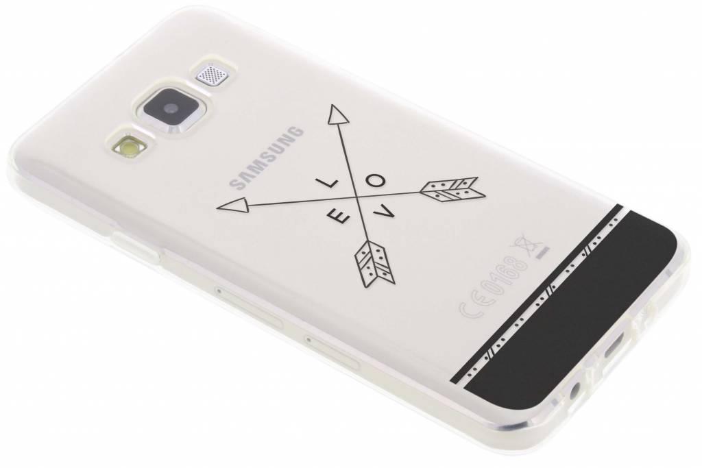 Love arrow transparant festival TPU hoesje voor de Samsung Galaxy A3