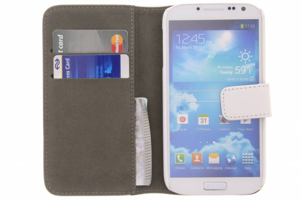 Boîtier Blanc Wally Pour Samsung Galaxy S4 xbxOt