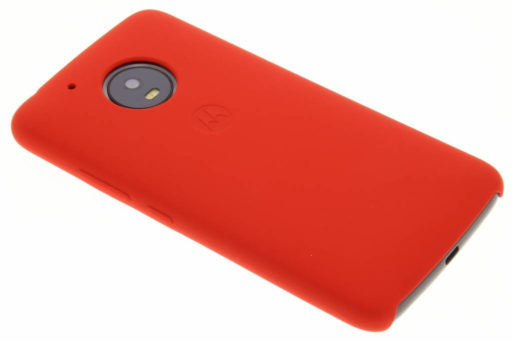 Rode Silicone Back Cover voor de Moto G5