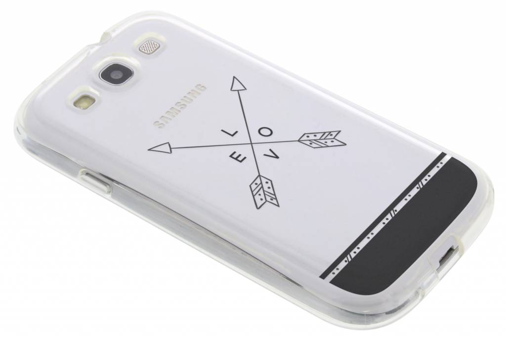 Love arrow transparant festival TPU hoesje voor de Samsung Galaxy S3 / Neo
