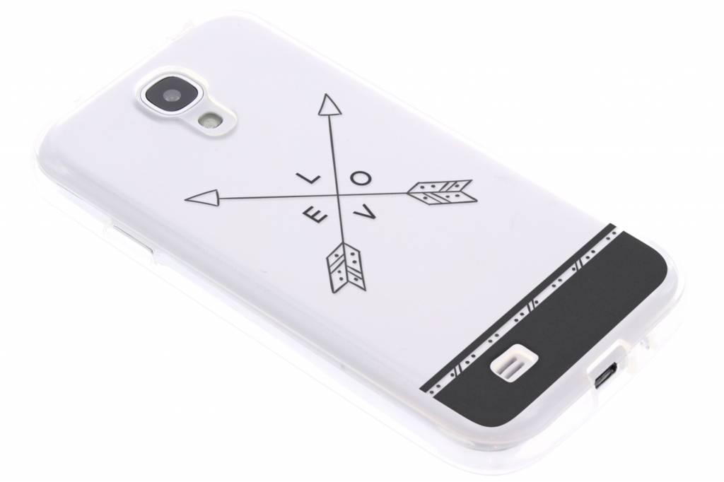 Love arrow transparant festival TPU hoesje voor de Samsung Galaxy S4