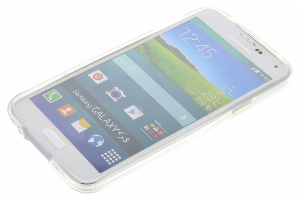 Festival Des Plumes Cas De Tpu Transparent Pour Samsung Galaxy S5 (plus) / Neo lW0CfSrs