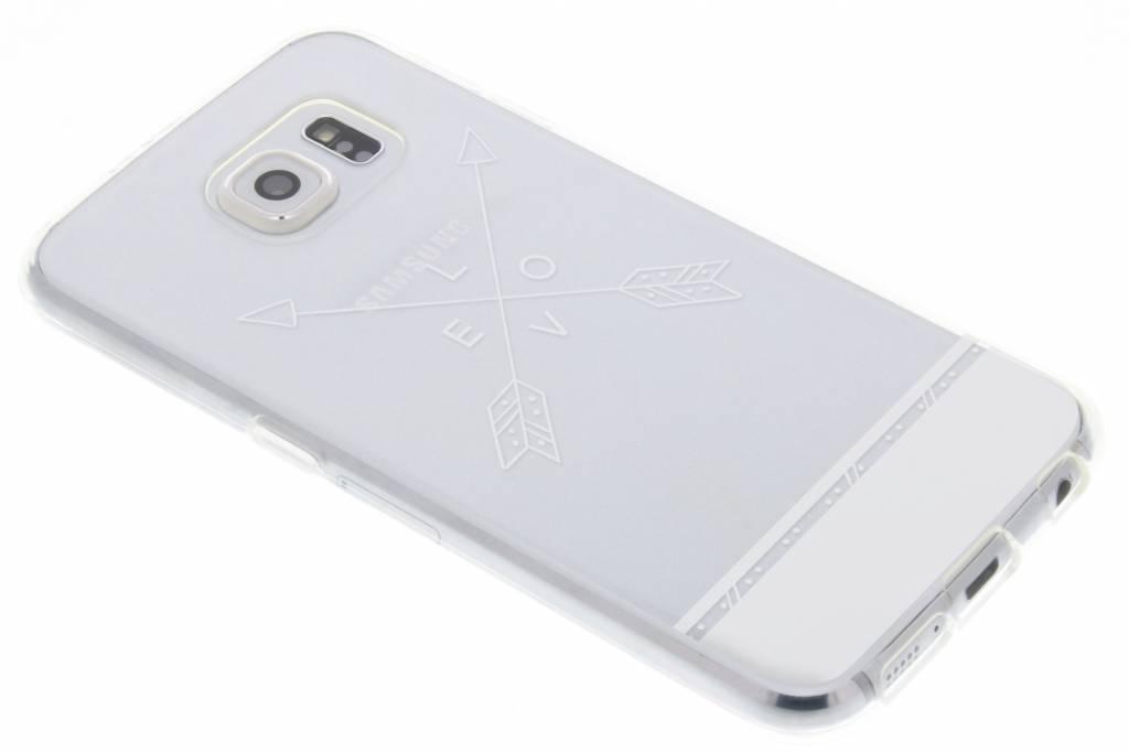 Love arrow transparant festival TPU hoesje voor de Samsung Galaxy S6
