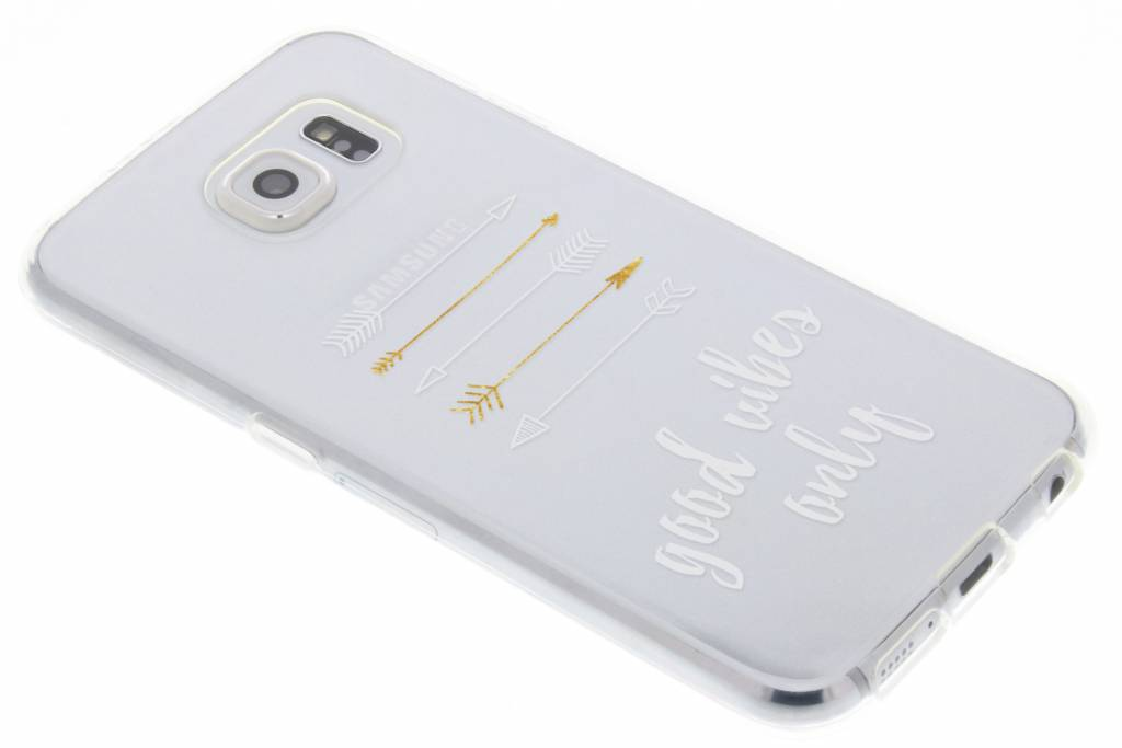 Good vibes only transparant festival TPU hoesje voor de Samsung Galaxy S6
