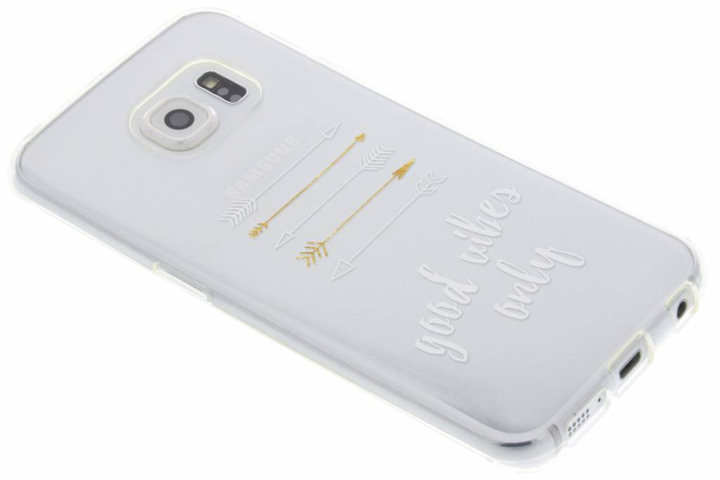 Good vibes only transparant festival TPU hoesje voor de Samsung Galaxy S6 Edge