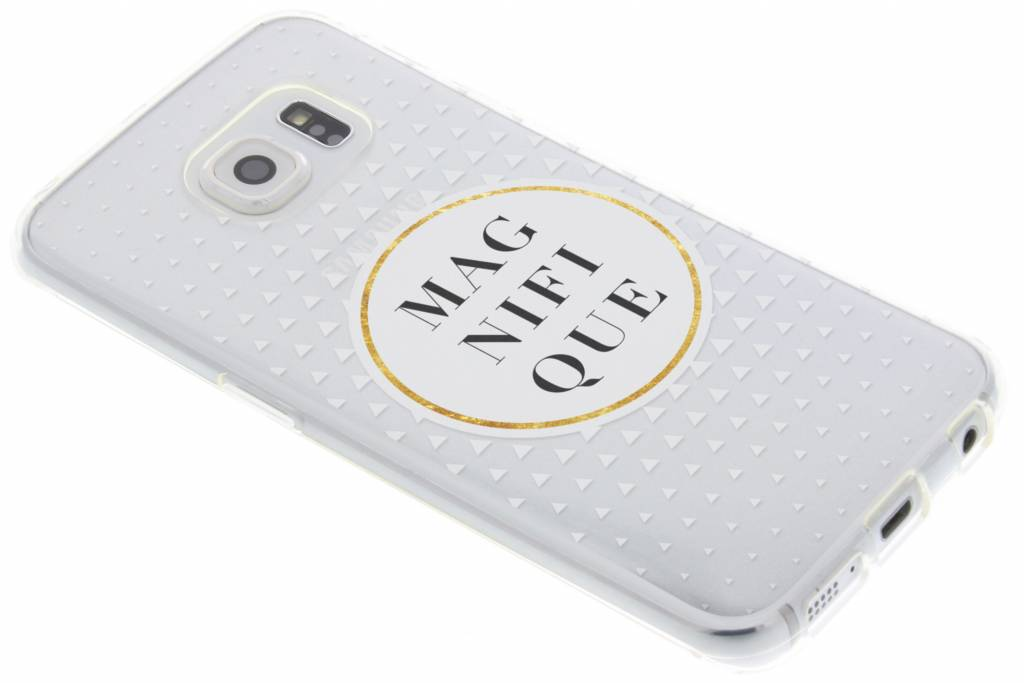 Magnifique transparant festival TPU hoesje voor de Samsung Galaxy S6 Edge