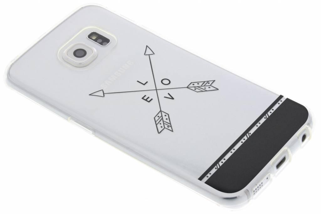 Love arrow transparant festival TPU hoesje voor de Samsung Galaxy S6 Edge