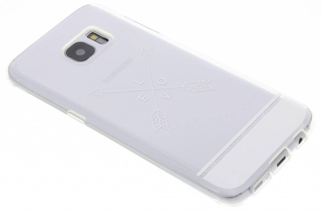 Love arrow transparant festival TPU hoesje voor de Samsung Galaxy S7 Edge
