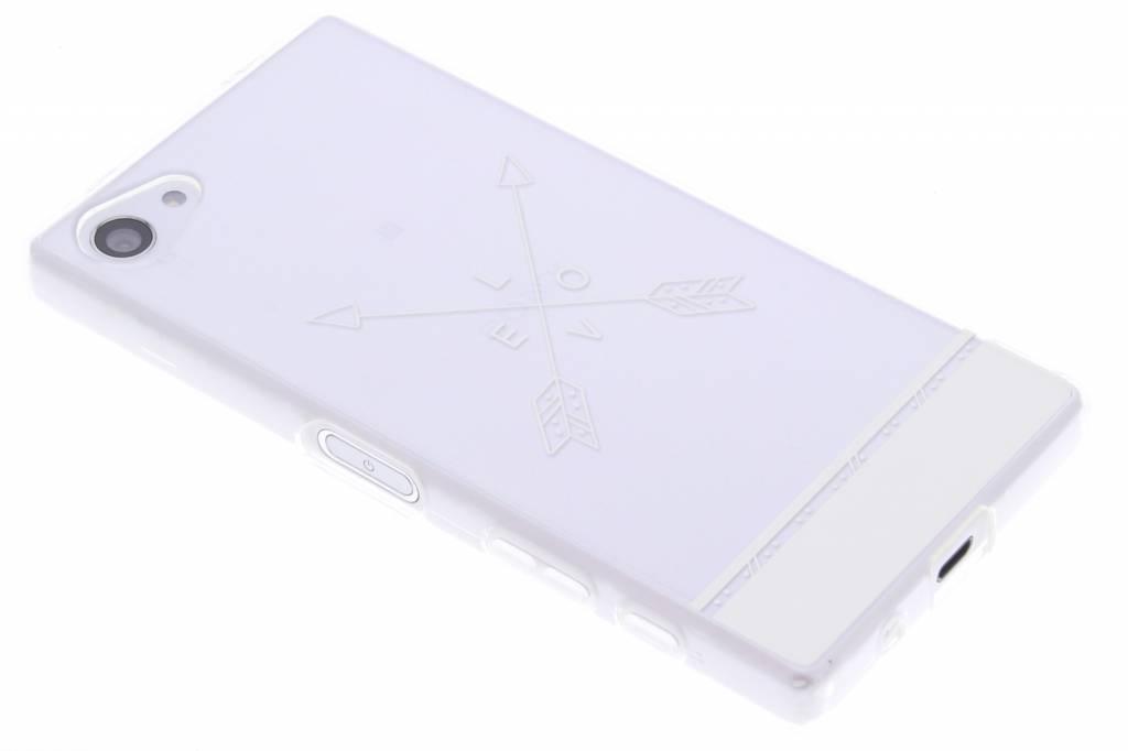 Love arrow transparant festival TPU hoesje voor de Sony Xperia Z5 Compact