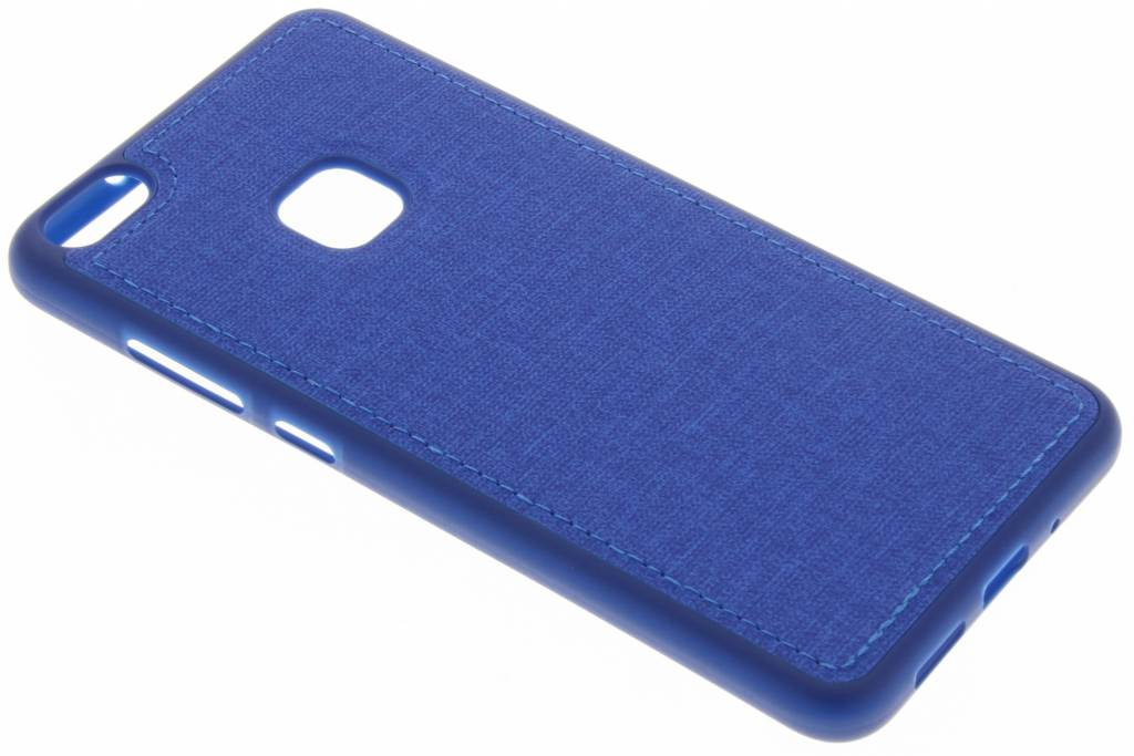 Blauwe textiel TPU case voor de Huawei P10 Lite