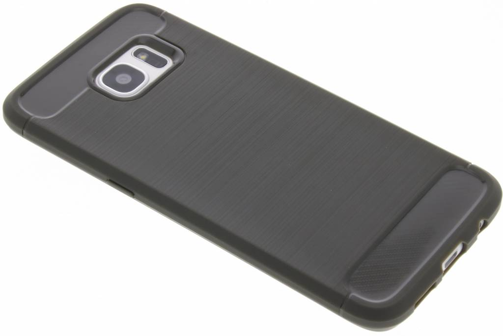 Grijze Brushed TPU case voor de Samsung Galaxy S7 Edge