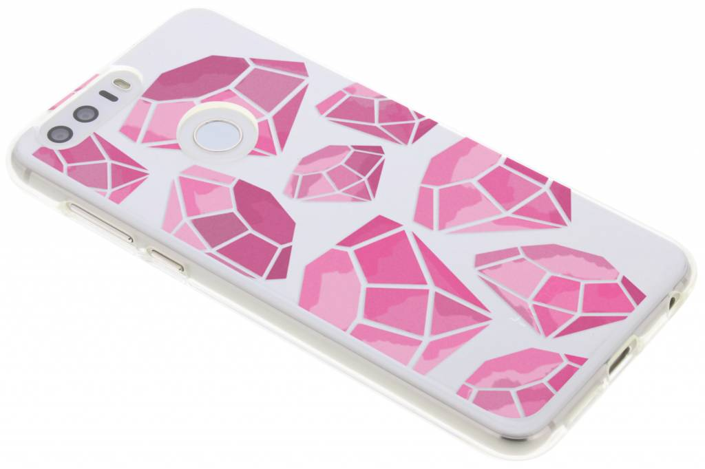 Pink diamonds design TPU hoesje voor de Honor 8