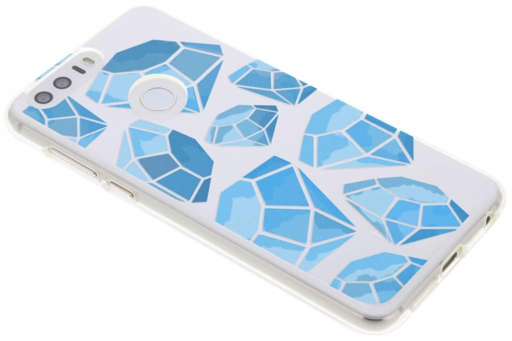 Blue diamonds design TPU hoesje voor de Honor 8