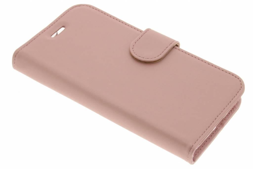 Accezz Rosé Gouden Wallet TPU Booklet voor de Asus Zenfone Go