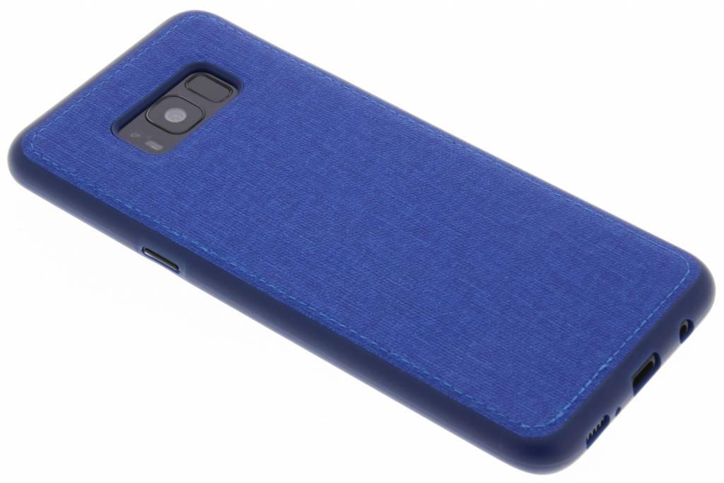 Blauwe Textiel TPU case voor de Samsung Galaxy S8 Plus