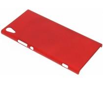Rood effen hardcase hoesje Sony Xperia XA1 Ultra