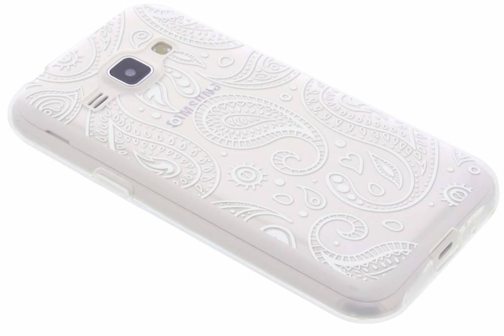 Paisley transparant festival TPU hoesje voor de Samsung Galaxy J1