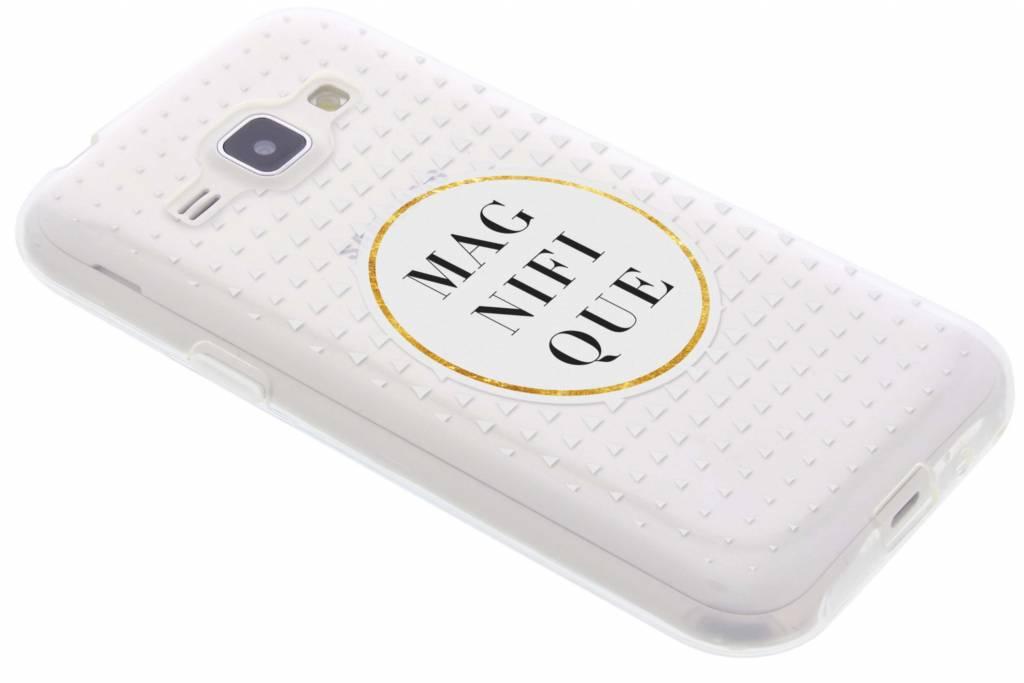 Magnifique transparant festival TPU hoesje voor de Samsung Galaxy J1