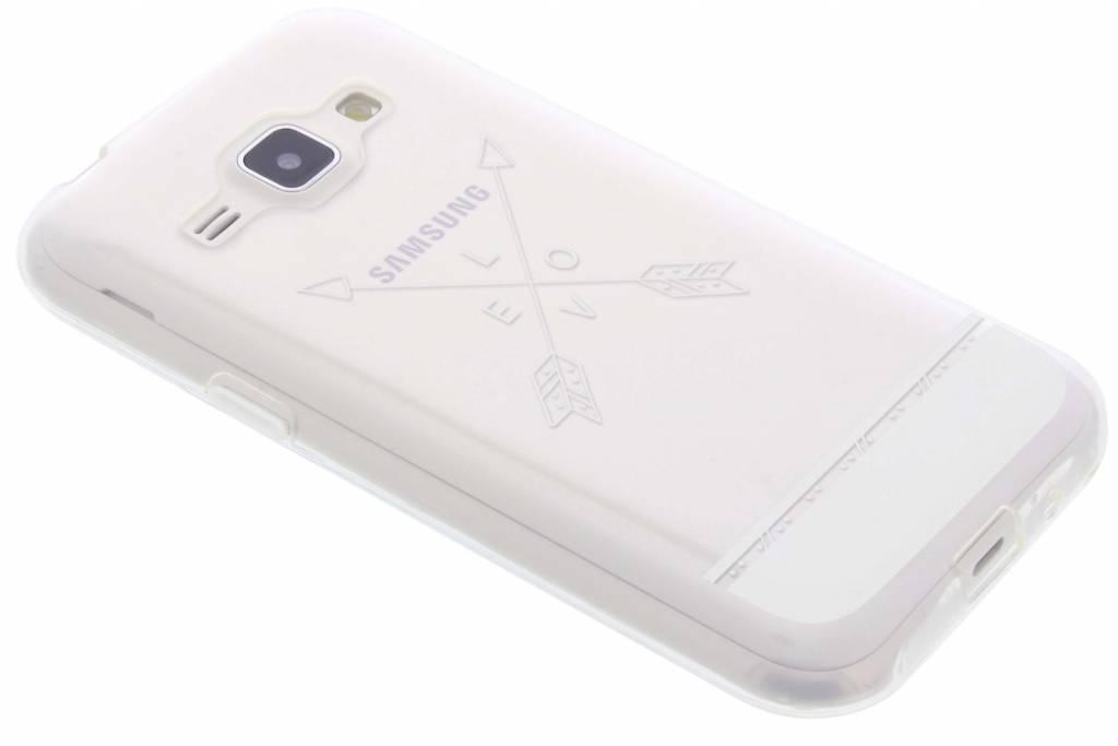 Love arrow transparant festival TPU hoesje voor de Samsung Galaxy J1